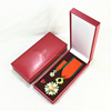 Military medal souvenir badge leather gift box packaging