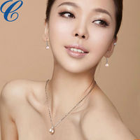 New trendy imitation pearl jewelry sets