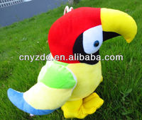 cute red soft plush parrot stuffed toys
