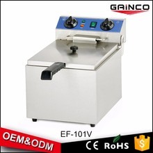 Counter Top 10 L Capacity Single Basket chicken frying Stainless Steel Electric Deep Fryer for KFC