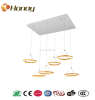 Acrylic cover color gold wooden material led pendant lamp
