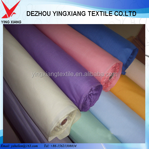 Polyester 65% Cotton 35% 45*45 133*72 twill 112gsm pocketing and shirting fabric