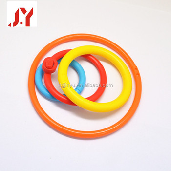 colorful environmental friendly plastic rings for tossing paly