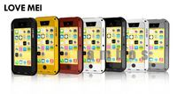 Love Mei Aluminum Metal Cover Waterproof Case with Retail Package for iphone 5 5s