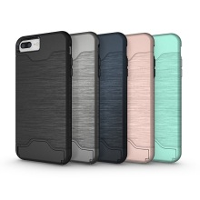 2017 newest 2 in 1 tpu + pc phone case insert cards