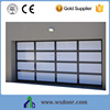 Modern residence remote control Aluminum glass garage door price