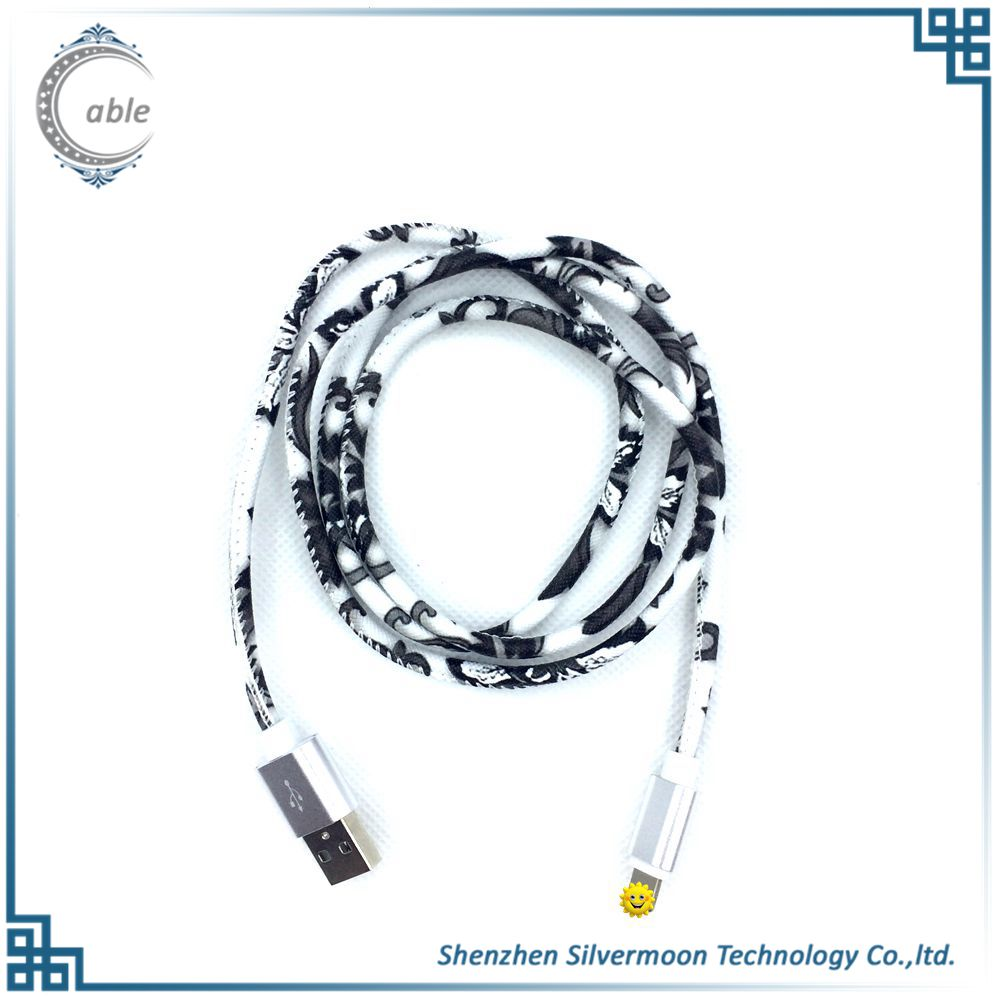 Top selling high quality Various colors leather jean usb data cable