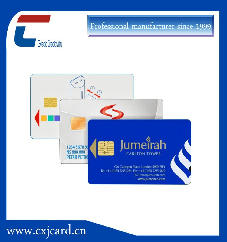 Security IC chip credit card