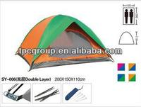 2 Persons Outdoor Camping Tent Waterproof Casual Hiking/Camping Tent, Double Layer Travel Tents