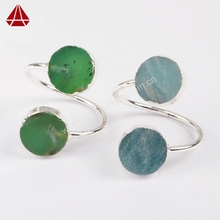 JAN002 wholesale natural stone jewelry with 925 silver ring ,sterling silver ring