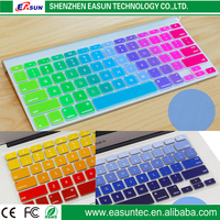 2016 wholesale in stock silicone rainbow keyboard cover for macbook 13 air pro