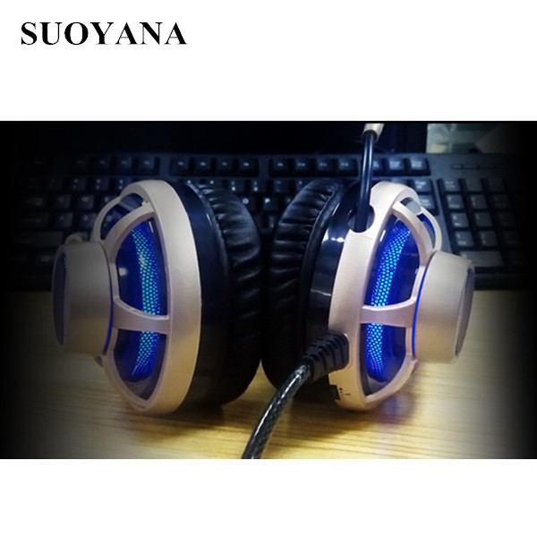 Headset with rj jack and big earmuff headset with high quality sound gaming headset 7.1