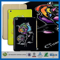 C&T New arrival magnetic simply basic leather case for ipad mini cover