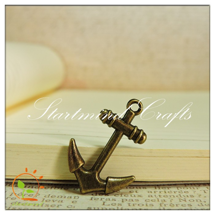 alloy small craft anchors, 3D vintage trinkets boat anchor craft