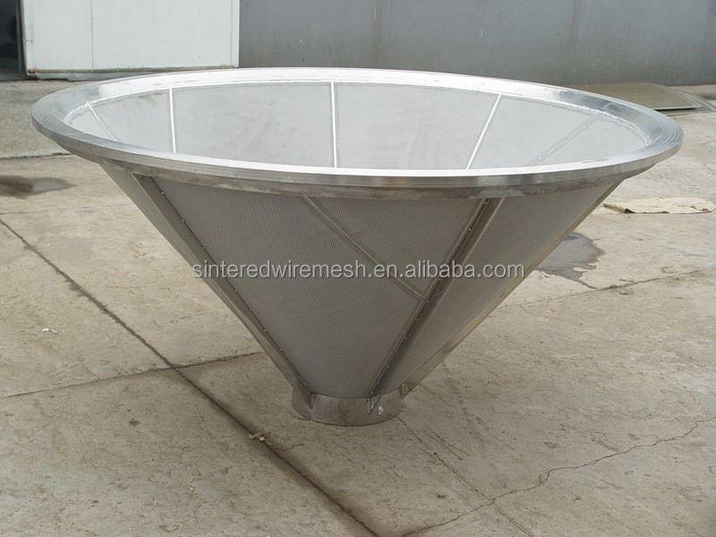 stainless steel centrifuge conical filter basket