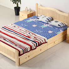 Comfortable customized color wooden bed picture