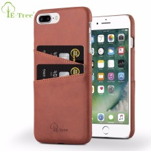 black leather case for iphone 8 plus card slots cover for iphone 7 plus cell phone case wallet back cover