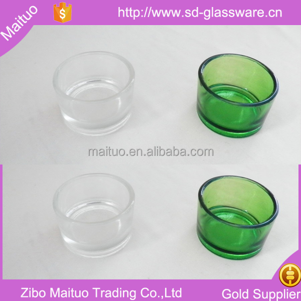 clear small glass tea light candle holder for wedding