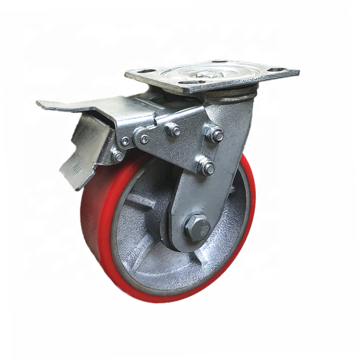 150mm 6 Inch Hot selling Automatic heavy duty retractable furniture caster <strong>wheel</strong> for sliding door