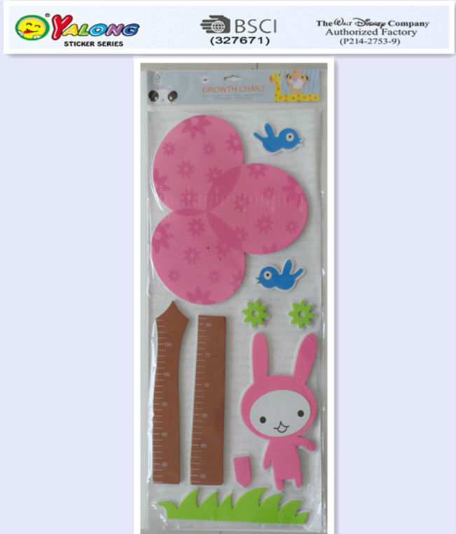 3d foam material children measuring growth chart