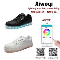 newest high quality fashion adult unisex casual app bluetooth control led shoes