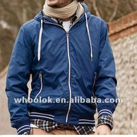 Mens outdoor jacket with hood casual blazer