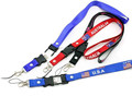 USB Buckle Cheap word id card holder lanyard