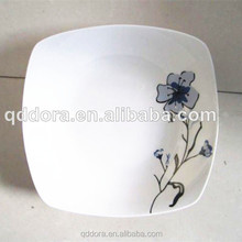 Square ceramic plate with lid/White Porcelain Square Plate For Restaurant