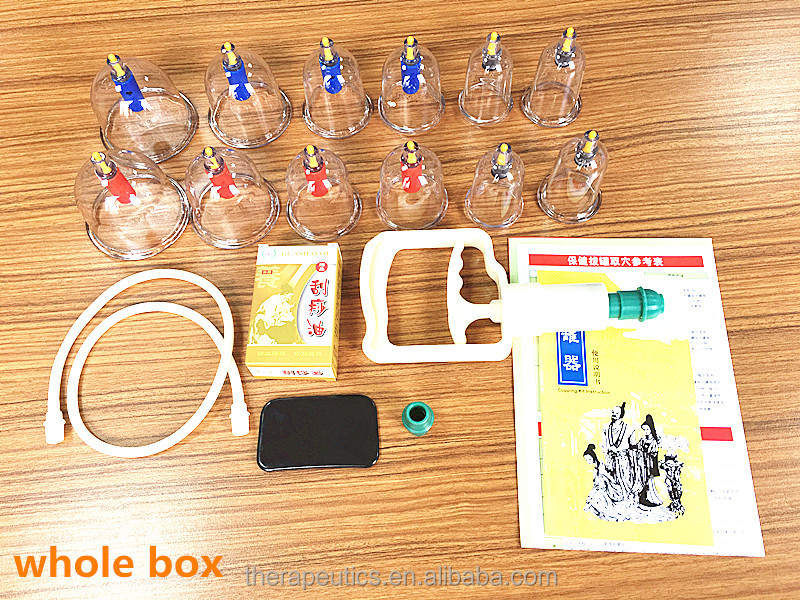 2016 new cupping set cupping hijama for personal use vacuum cupping machine 12 cups