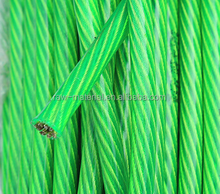 6*19 PVC coated galvanized steel wire rope manufacturers price
