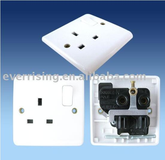 PC board copper conductor silver point 13A wall switch socket