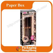 black recycled paper eyebrow pencil box design