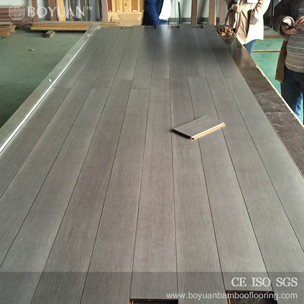 BY Anti Scratch low price strand woven gray bamboo flooring