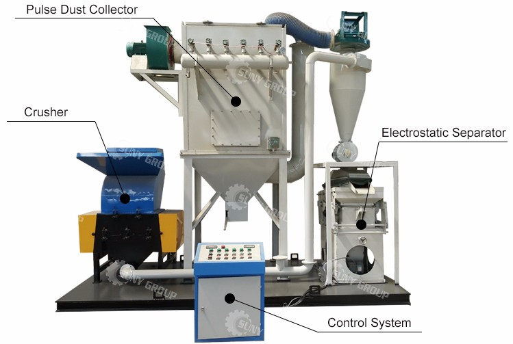 scrap copper wire cable recycling machine