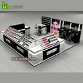 Black cosmetic display stand shop furniture with cosmetic shop interior design on sale