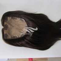 100% Wholesale silk hair pieces topper for top of head for man