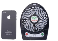 Rechargeable Fashion air cooling fan motors,Battery fan mini motors portable cool fan working with power bank