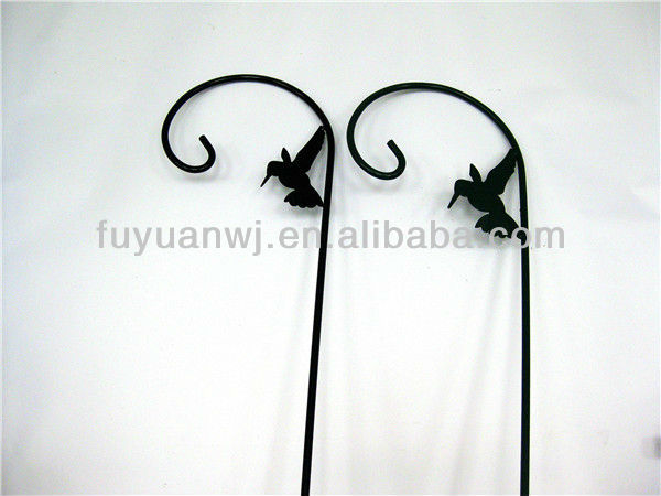 galvanized and powder coated metal wall hanging basket hooks