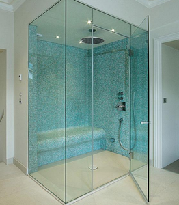 Guida brand 10mm bathroom shower glass doors clear tempered sliding shower door toughened glass