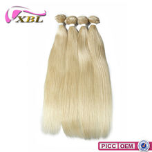 Indian Straight Human Hair Weaving,XBL Remy Indian Blonde 20Inch Human Hair Extensions