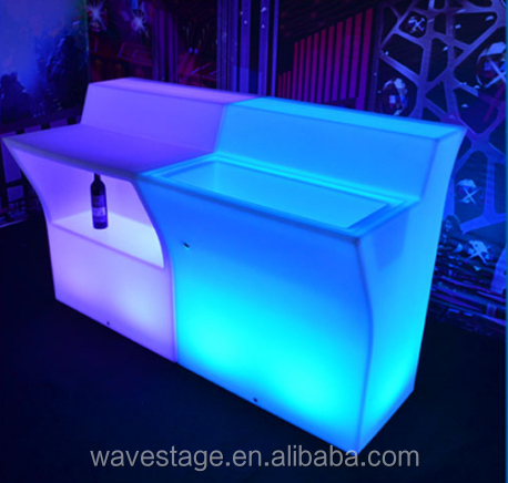 Portable bar counter outdoor party used led illuminated rechargeable commercial furniture led bar counter