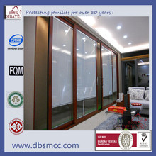 double glazed aluminium sliding door with built-in blinds
