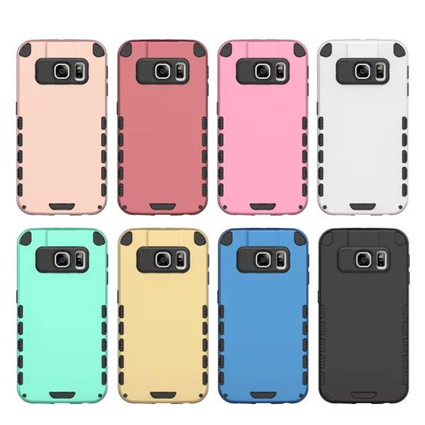 C&T Dual Layer Hard PC Cover + TPU Inner Case Hybrid Rugged Slim Cell Phone Case for Samsung Galaxy S7