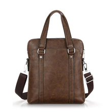 Hot selling large stock leather business bag for men