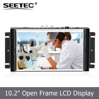 DC 12V input 10.2 inch Open Frame 5 wire resistive Touch TFT Monitor 16:9 metal shell industrial lcd