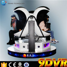 2016 Alibaba Hot sales 9d vr game machine 3 dof electric platform single/double/triple seats 9D vr egg chair