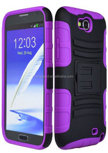 For Samsung galaxy note 2 hybrid armor case with holster belt clip