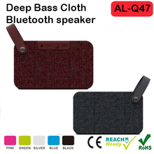 Portable Wireless Bluetooth Speaker with Cloth Fabric Strap Rugged Retro Look, 10W Stereo Sound with Enhanced Bass