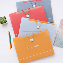 a4 plastic pp expanding file folder wallet with printing
