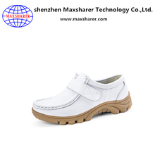 High quality soft leather nice price nurse shoes colorful women nursing shoes